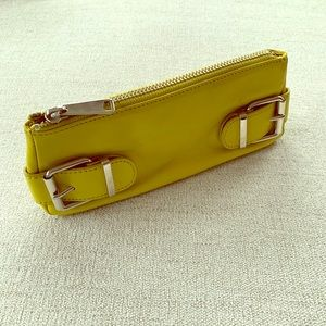 Banana Republic Leather Clutch Wallet - Chartreuse